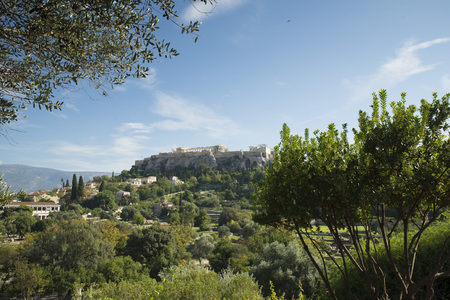 acropolis: View of the Acropolis of Athens from the Ancient Agora