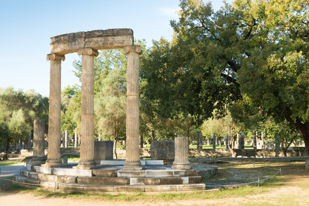 ancient architecture: Greece Olympia, ancient ruins of the important Philippeion in Olympia