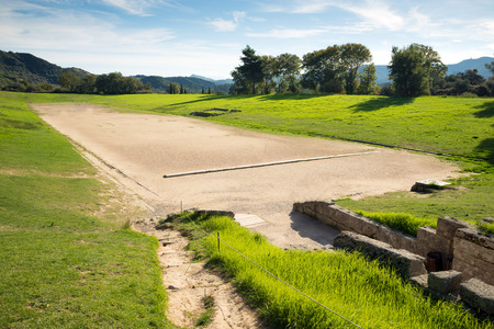 greece: Ancient classic greek stadium at Olympia in Greece