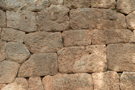 delphi: stadium wall in the archaeological site of Delphi, Greece Stock Photo