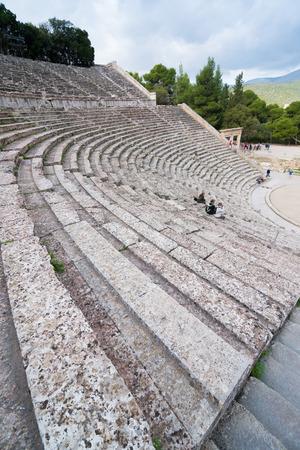 past civilization: Ancient theater Epidaurus, Argolida, Greece Stock Photo