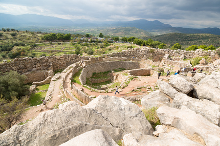 Grave Circle A. The archaeological sites of Mycenae and Tiryns have been inscribed upon the World Heritage List of UNESCO