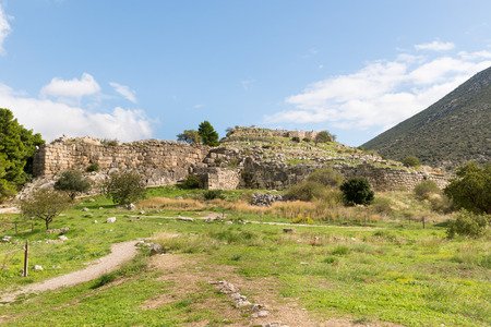 archaeological sites: Distant ruins of the ancient city of Mycenae. The archaeological sites of Mycenae and Tiryns have been inscribed upon the World Heritage List of UNESCO