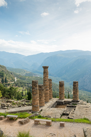delphi: The archaeological site of Delphi has been inscribed upon  The ruins of the Temple of Apollo