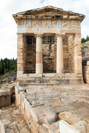 inscribed: The archaeological site of Delphi has been inscribed upon the The Athenian treasury