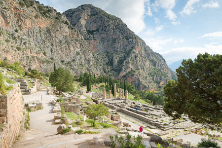 inscribed: The archaeological site of Delphi has been inscribed upon