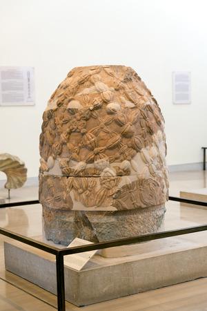delphi: DELPHI, GREECE - OCTOBER 30, 2015: Delphi Archaeological Museum. omphalos