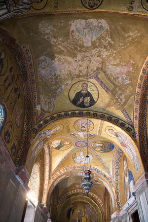 revere: DISTOMO, GREECE - OCTOBER 30, 2015: Hosios Loukas monastery is one of the most important monuments of Middle Byzantine architecture and an UNESCO World Heritage Site
