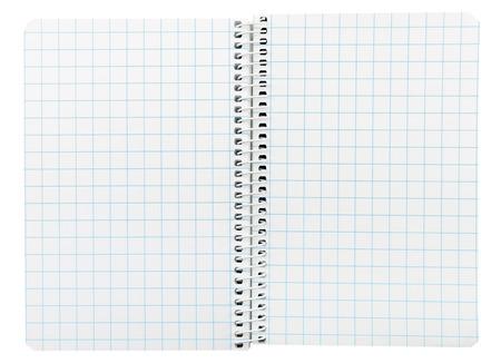 message pad: Closeup of an open spiral bound notebook
