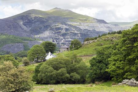 wales: old mine open sky in Wales, UK