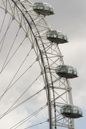 millennium wheel: London Eye capsule. London Eye is also known as the Millennium Wheel, one of the most popular tourist attraction in London. Editorial