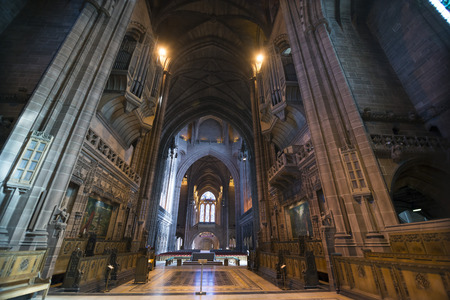 anglican: Inside the anglican cathedral in Liverpool Editorial