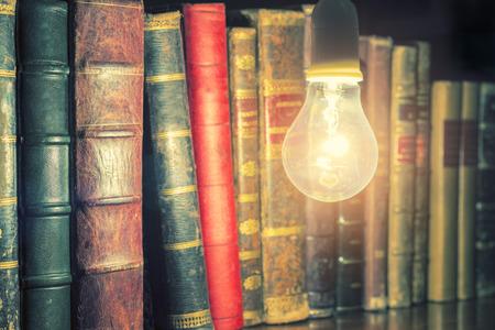 electric bulb: electric bulb illuminating books