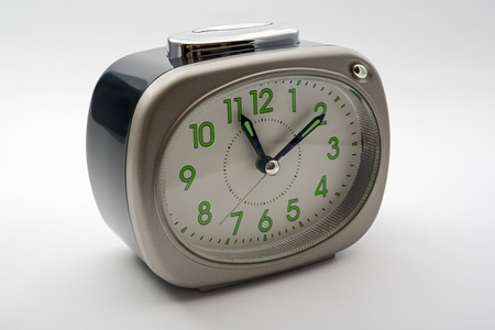clock: Alarm Clock over white background