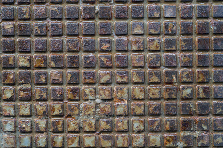 metal grid: closeup of sheet metal grid