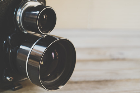 medium body: Closeup of old style photographic camera; medium format 6x6 cm.