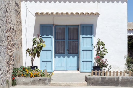 francesc: A typical house in San Francisco, the capital of the island of Formentera, Balearic Islands, Spain