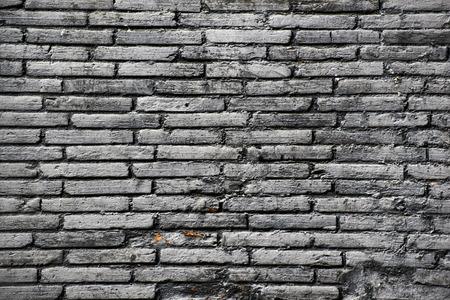 old brick wall: Closeup of an old black brick wall