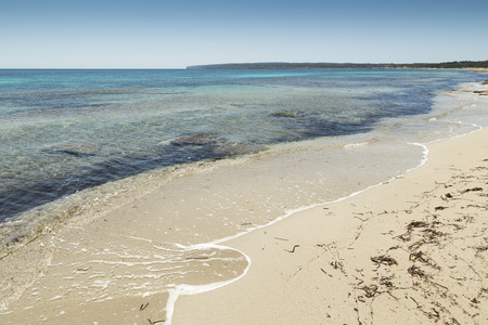 formentera: Formentera, a beach with turquoise sea in Mediterranean balearic islands