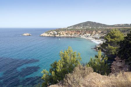 vedra: Cala dHort, Ibiza island, Spain Stock Photo