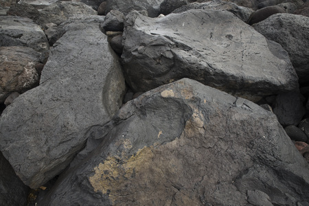 canary: Black volcanic stones on Canary Islands