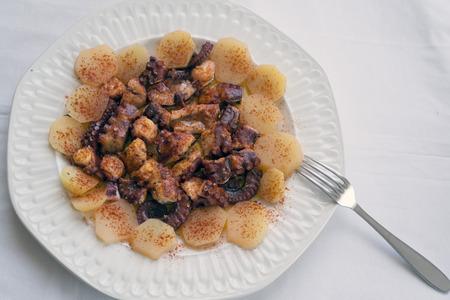 spanish tapas: octopus galician style, spanish tapas dish Stock Photo