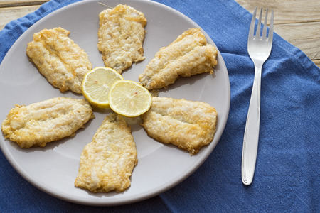 bluefish: fritters of battered anchovies with lemon