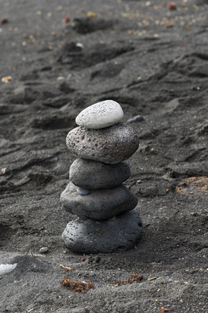 stacked: black stones stacked