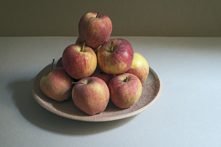 straightforward: simple still life of red apples. Copy space