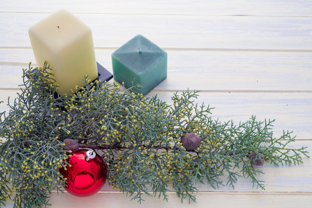 copy  space: Christmas ornaments. Copy space