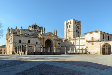 zamora: Cathedral of Zamora, Spain. Example of architecture romanesque architecture