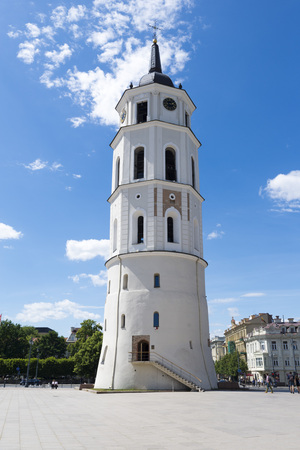 sainthood: Belfry Tower of Vilnius Cathedral, Lithuania Stock Photo