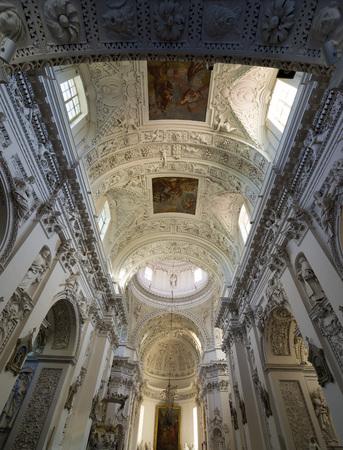 vilnius: Interior od St. Peter and Paul Church Vilnius, Lithuania