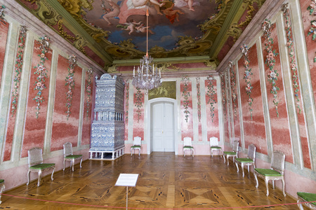 rundale: PILSRUNDALE, LATVIA - JUNE 9, 2016: Interior of Rundale palace. The Rose Room. .It is one of the two major baroque palaces built for the Dukes of Courland in what is now Latvia Editorial