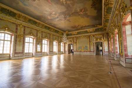 rundale: PILSRUNDALE, LATVIA - JUNE 9, 2016: Interior of Rundale palace (The Gold Hall) .It is one of the two major baroque palaces built for the Dukes of Courland in what is now Latvia