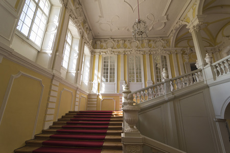rundale: PILSRUNDALE, LATVIA - JUNE 9, 2016: Interior of Rundale palace.It is one of the two major baroque palaces built for the Dukes of Courland in what is now Latvia