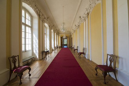 rundale: PILSRUNDALE, LATVIA - JUNE 9, 2016: Interior of Rundale palace (The Small Gallery) .It is one of the two major baroque palaces built for the Dukes of Courland in what is now Latvia