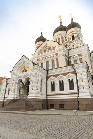 roofed house: Alexander Nevsky Cathedral, an orthodox cathedral in the Tallinn Old Town, Estonia.