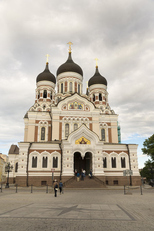 roofed house: TALLINN, ESTONIA- JUNE 12, 2016: Alexander Nevsky Cathedral, an orthodox cathedral in the Tallinn Old Town, Estonia.