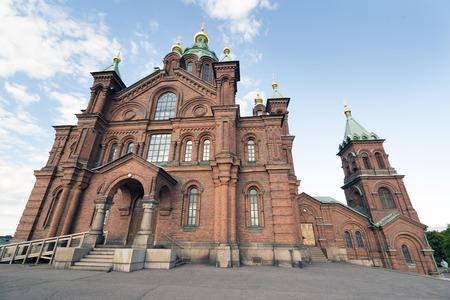 helsinki: Uspensky orthodox cathedral, Helsinki, Finland Stock Photo