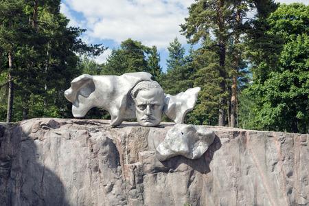 sibelius: HELSINKI, FINLAND - JUNE 13, 2016: The Sibelius Monument, dedicated to the Finnish composer Jean Sibelius is located at the Sibelius Park