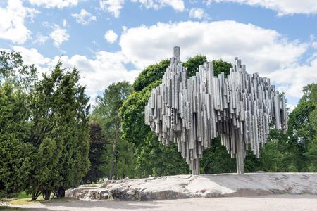 sibelius: HELSINKI, FINLAND - JUNE 13, 2016: Jean Sibelius Monument in Helsinki, Finland. Jean Sibelius was a Finnish composer of the late Romantic period