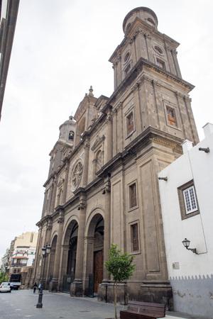 LAS PALMAS DE GRAN CANARIA, SPAIN - JULY 30, 2016: Cathedral of Saint Ana, Las Palmas de Gran Canaria, Spain Editorial