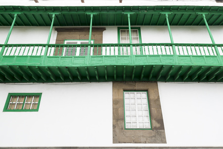 san agustin: balconies typical of the Canary Islands in the street of San Agustin, Las Palmas
