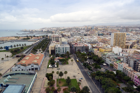 Panorama of the city of Las Palmas de Gran Canaria. The Canary Islands. Spain Editorial