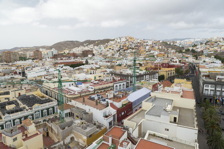 residential structures: Panoramic view on colourful residential structures in the city of Las Palmas of Gran Canaria, Canary Islands, Spain Editorial