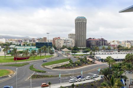 casa colonial: Panorama de la ciudad de Las Palmas de Gran Canaria. Las Islas Canarias. España