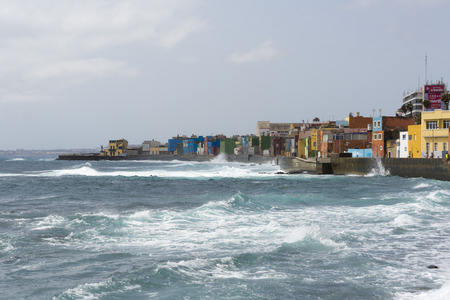 las palmas: view fishing district of San Cristobal, south of Las Palmas in Gran Canaria, Canary Islands