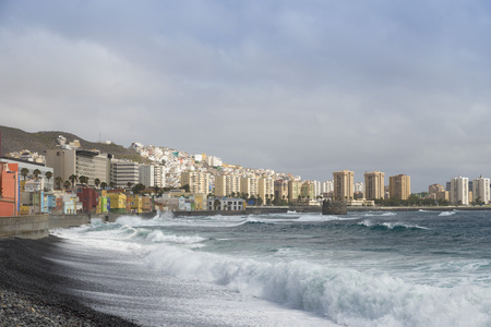 view fishing district of San Cristobal, south of Las Palmas in Gran Canaria, Canary Islands