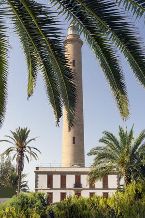 seascapes: Lighthouse in Maspalomas, Gran Canaria, Canary Islands Stock Photo